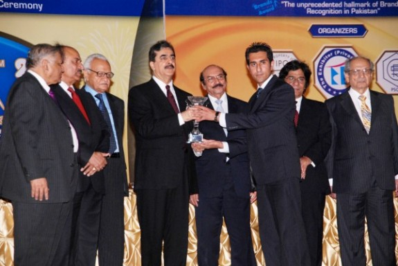 Mr. Naveed Ahmed Receiving Emerging Brand Of the Year Award 2009