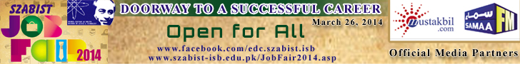 SZABIST Islamabad Job Fair 2014
