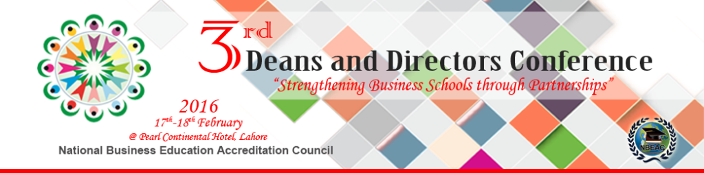 3rd NBEAC DEANS AND DIRECTORS CONFERENCE 2016